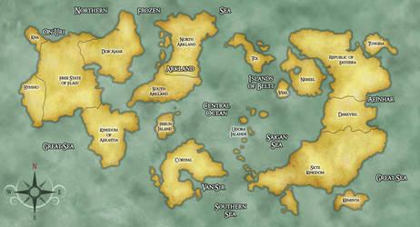 Kaadia Worldmap by JeynaElgren
