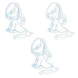 Drawing practice - Pony with rain jacket by JeynaElgren