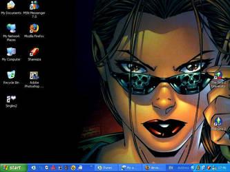 Lara Croft desktop by LuciousLara