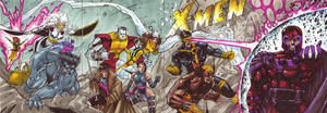 XMen 1 Cover recreation cards by JeremyTreece