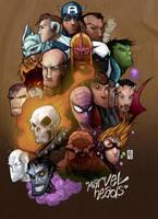 Marvel Heads by JeremyTreece