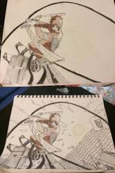 Eren from Attack on Titan by Fongrrr