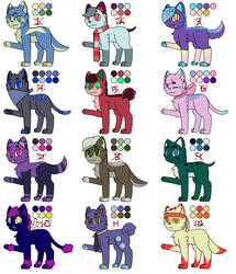 Free/Cheap Cat and Dog Adoptables! (CLOSED) by Hopea-Cat