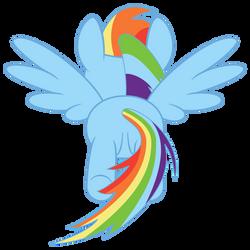 Rainbow Dash flying, rear view by vikingerik78