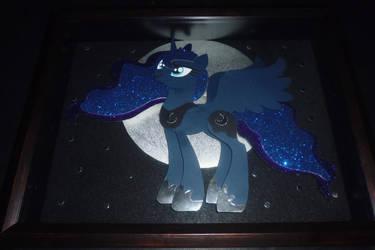 Princess Luna Shadowbox by vikingerik78