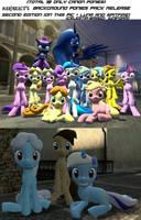 Background Ponies Pack Release V2 + BONUSES by MarineACU