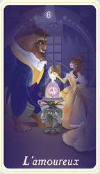 {The Princess Tarot} 'L'amoureux: Belle and Beast' by suisei-ojii-sama
