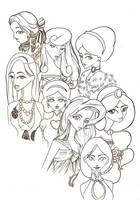 Disney-Princesses all Dressed by suisei-ojii-sama