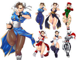 Various changes of Chun-Li by marchinx1