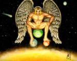 Cosmic angel by FantasticMystery