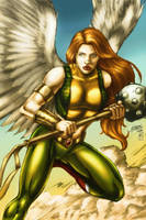 HAWKGIRL (colors) by FantasticMystery