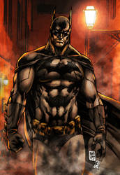 The Dark Knight (colors) by FantasticMystery