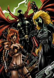 Spawn/Angela/Nyx (colors) by FantasticMystery