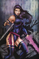 OLDIES: Psylocke colors by FantasticMystery