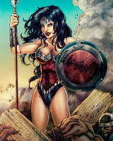 Wonder Woman colors commish by FantasticMystery