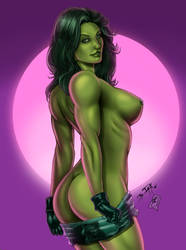 She-hulk Uncensored (colors) by FantasticMystery