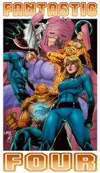Fantastic Four (colors) by FantasticMystery