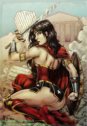 Diana at Themyscira colors by FantasticMystery