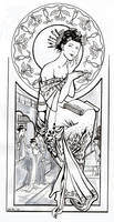 asian tribute to mucha by thecastor