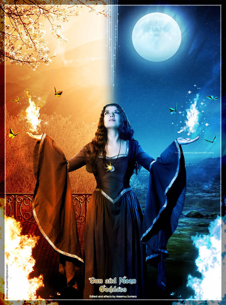 Sun And Moon Goddess by areemus