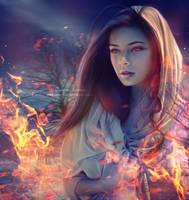Desert In Fire by areemus