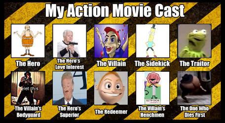 My Action Movie Cast by Drewsky1211