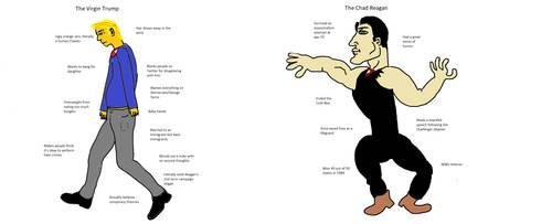 Trump vs Reagan by Drewsky1211