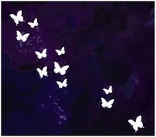Glittering wax butterflies by Loulah