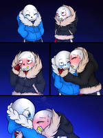 [Comic] UnderTale and UnderFell Sans - Wake up by FuyonaSoul