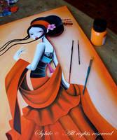 Delicate Orange in progress by SybileArt