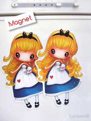 Magnet or Stickers Tiny Alice by SybileArt