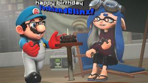 Happy Birthday, YoshiandBlinx! [Splatoon SFM] by Geoffman275