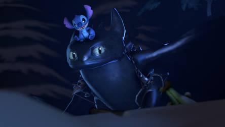 [SFM] Toothless and Stitch by Geoffman275