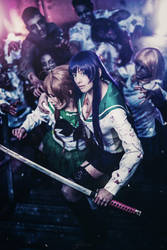 Rei and Saeko Highschool of the Dead Cosplay by K-I-M-I