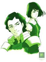 Korra and Kuvira by magnomalo
