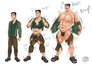 Skitchwill's Noah Muscle Growth Sequence by LYZbie