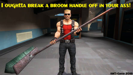 Duke and the Broom by AngusMcTavish