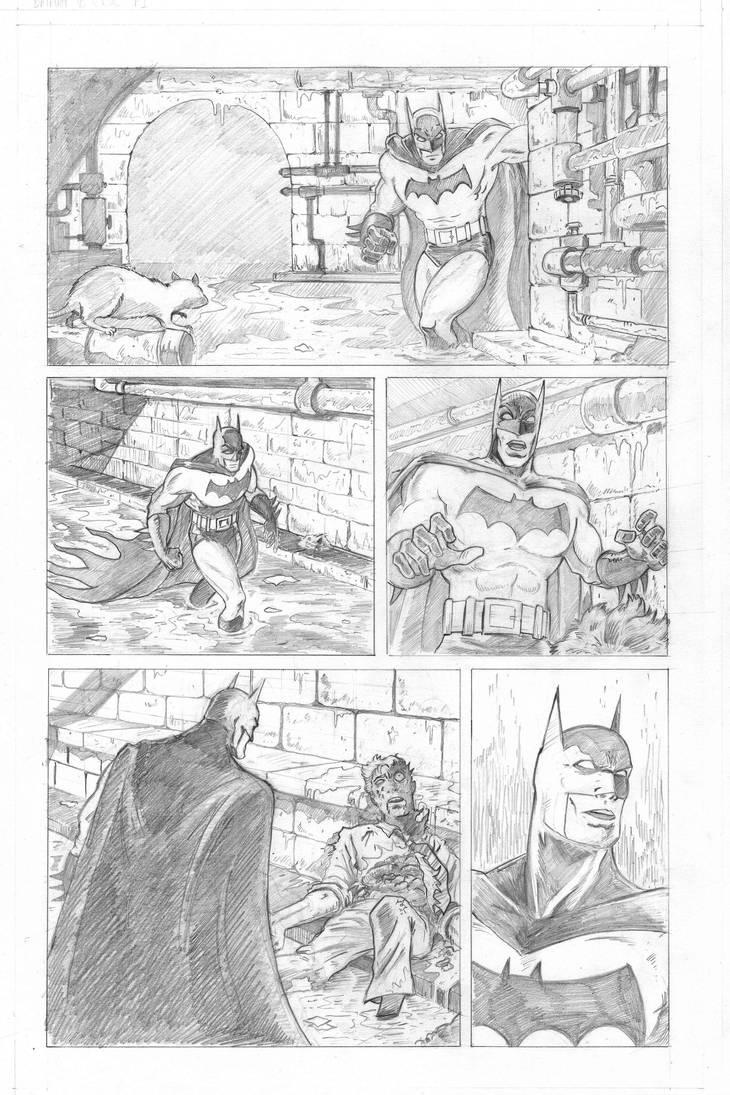 Batman Vs Killer croc sample page pencils P1 by Joss-L-Jenkins