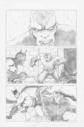 Batman Vs Killer croc sample page pencils Pg3 by Joss-L-Jenkins