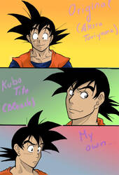 Same person, diff. styles-Goku by Michsi