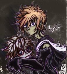 Black Lantern: Roxas by sageEmerald
