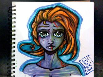 Blue Face by sageEmerald