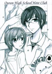 Kyoya and Haruhi by Melodyrose
