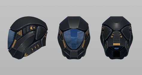 Scifi Helmet (3-sides) by JigglyRitz