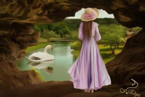Swan lake by vafiehya