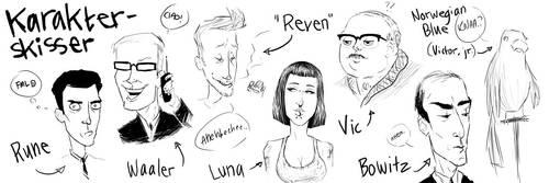 ComicCharacterDesign: Ensemble by bornirritating