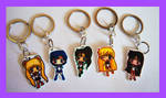 Sailor Moon Chibi Charm Keychains by IcyPanther1