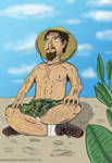Man in Meditation by xchainlinkx
