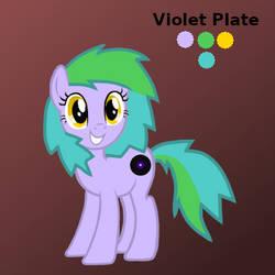 Violet Plate by platinumdrop