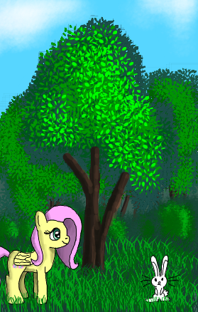 Fluttershy is hiking by platinumdrop